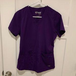 Grey's Anatomy scrub set in violet